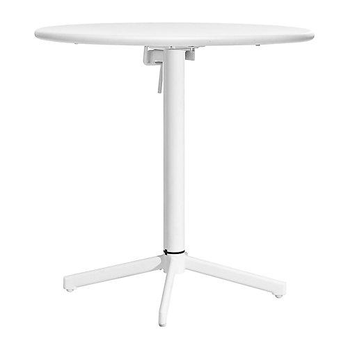 Big Wave Folding Round Table White