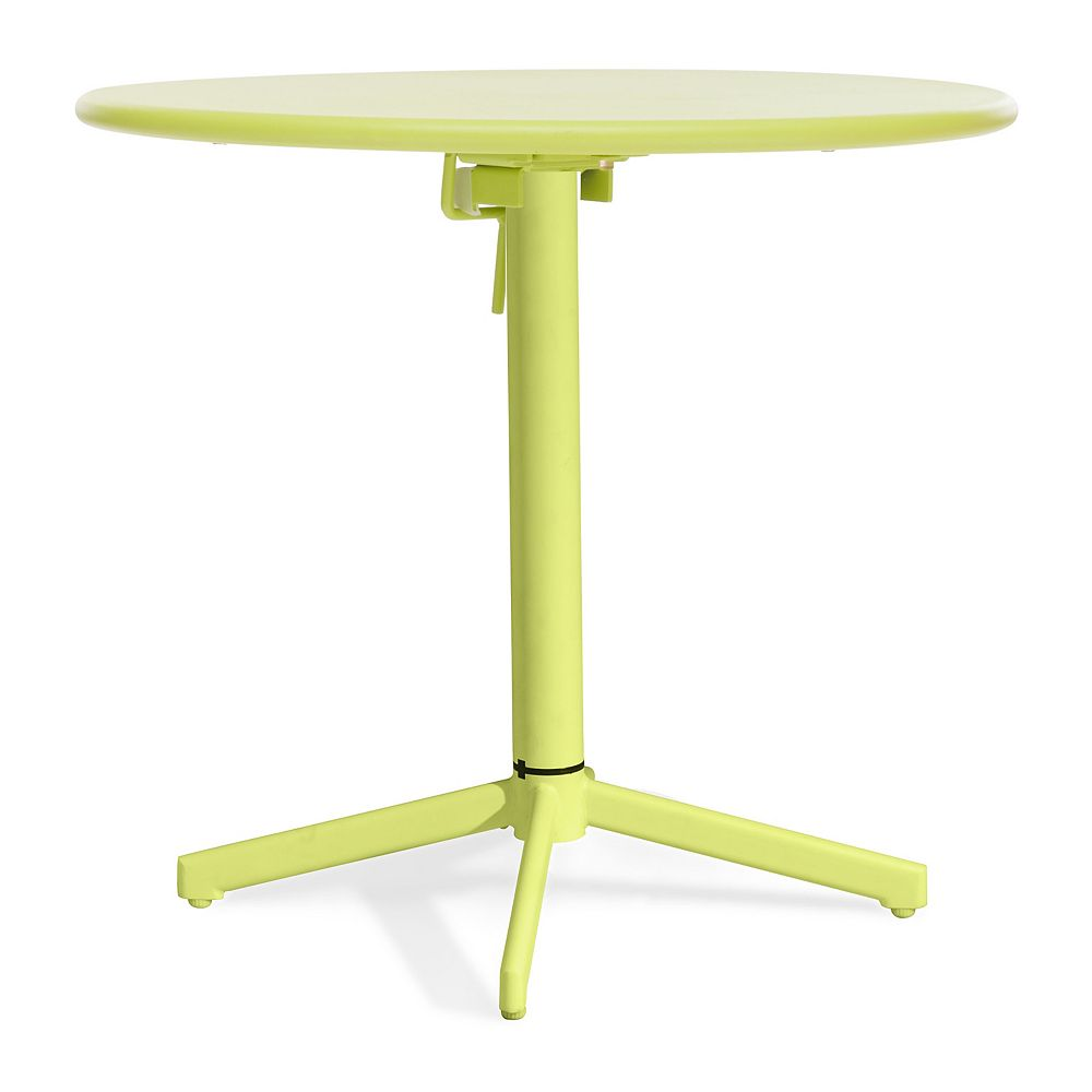 Zuo Modern Big Wave Folding Round Table Lime