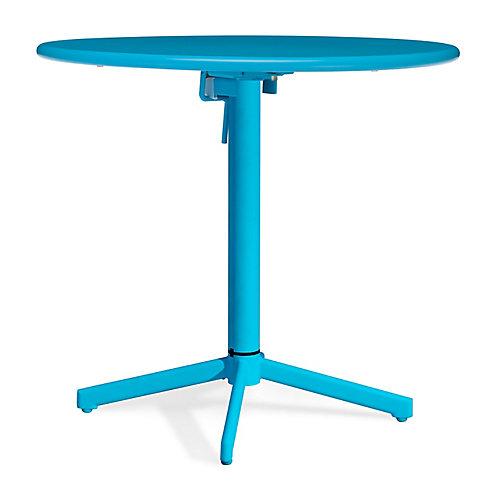 Big Wave Folding Round Table Aqua