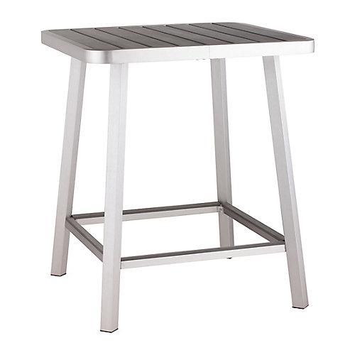 Megapolis Brushed Aluminum Patio Bar Table