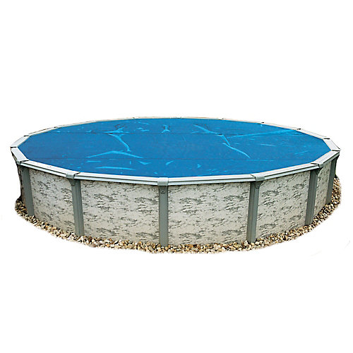 18 ft. Round 8-mil Blue Solar Blanket for Above-Ground Pools
