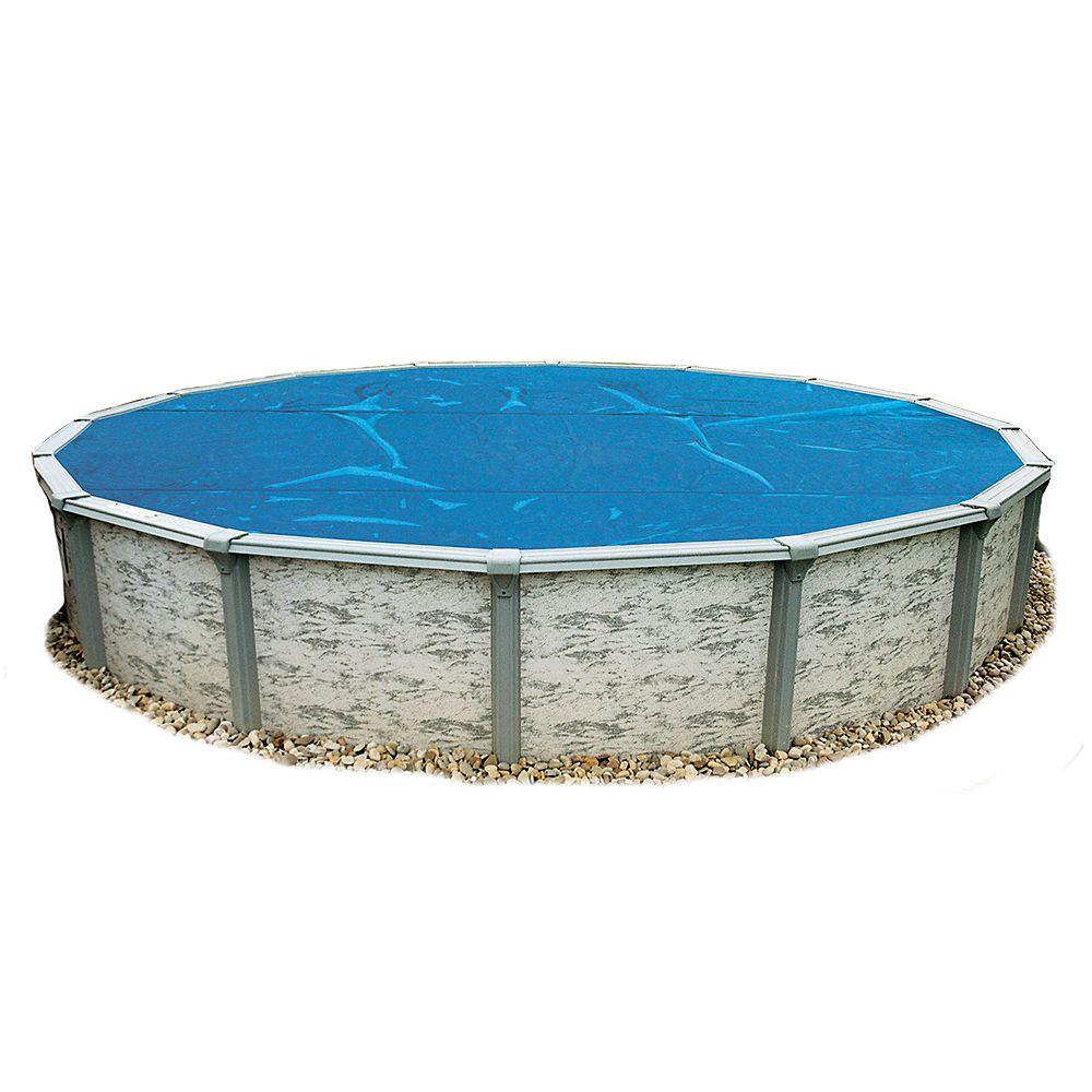 Blue Wave Toile solaire ronde 7,3 m (24 pi) x 8 mm pour piscine hors-terre - Bleue