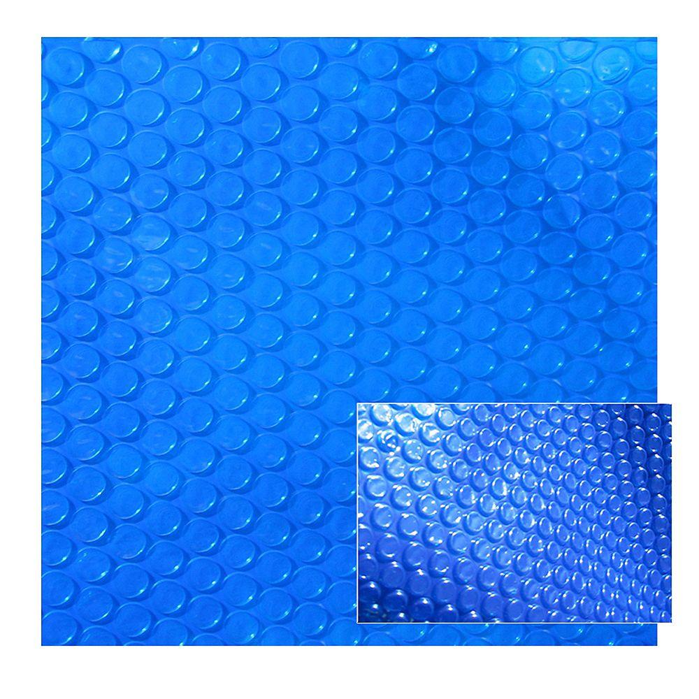 Blue Wave Toile solaire rectangulaire 4,9 m x 7,3 m (16 pi x 24 pi) x 12 mm pour piscine creusée - Bleue