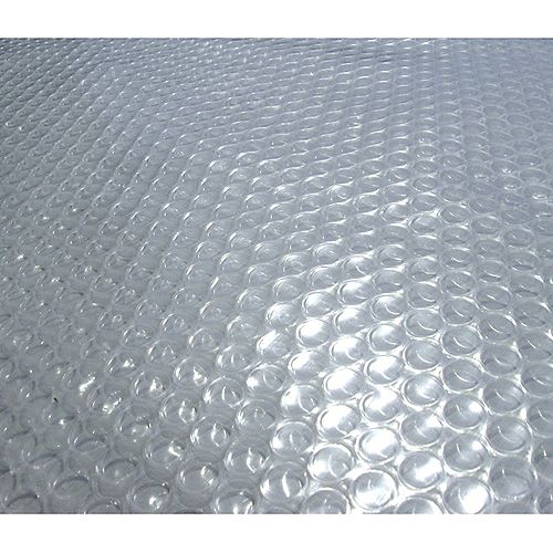 Blue Wave 21-Feet Round 12-mil Clear Solar Blanket for Above-Ground Pools