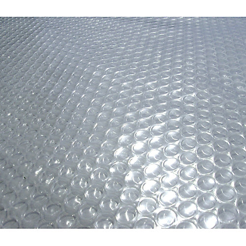 24-Feet Round 12-mil Clear Solar Blanket for Above-Ground Pools