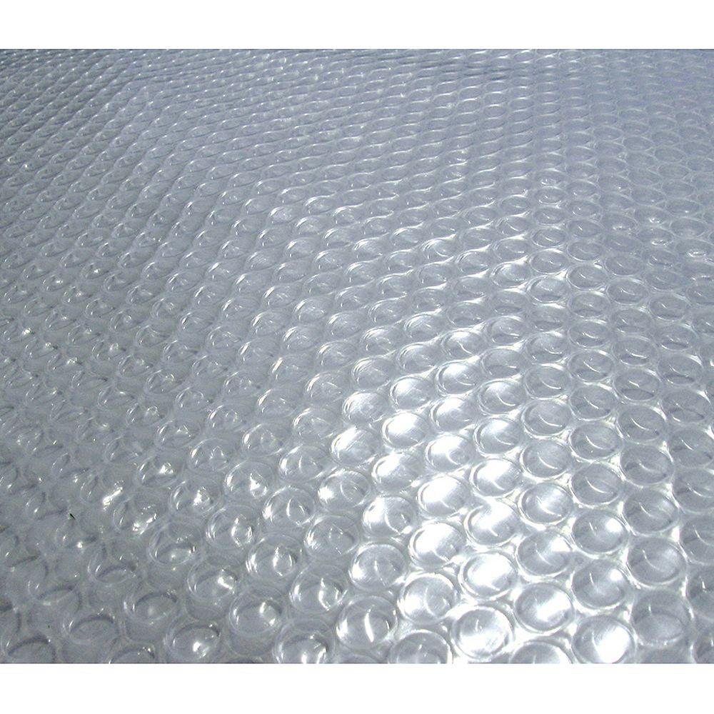 Blue Wave Toile solaire ronde 9,1 m (30 pi) x 12 mm pour piscine hors-terre - Transparente