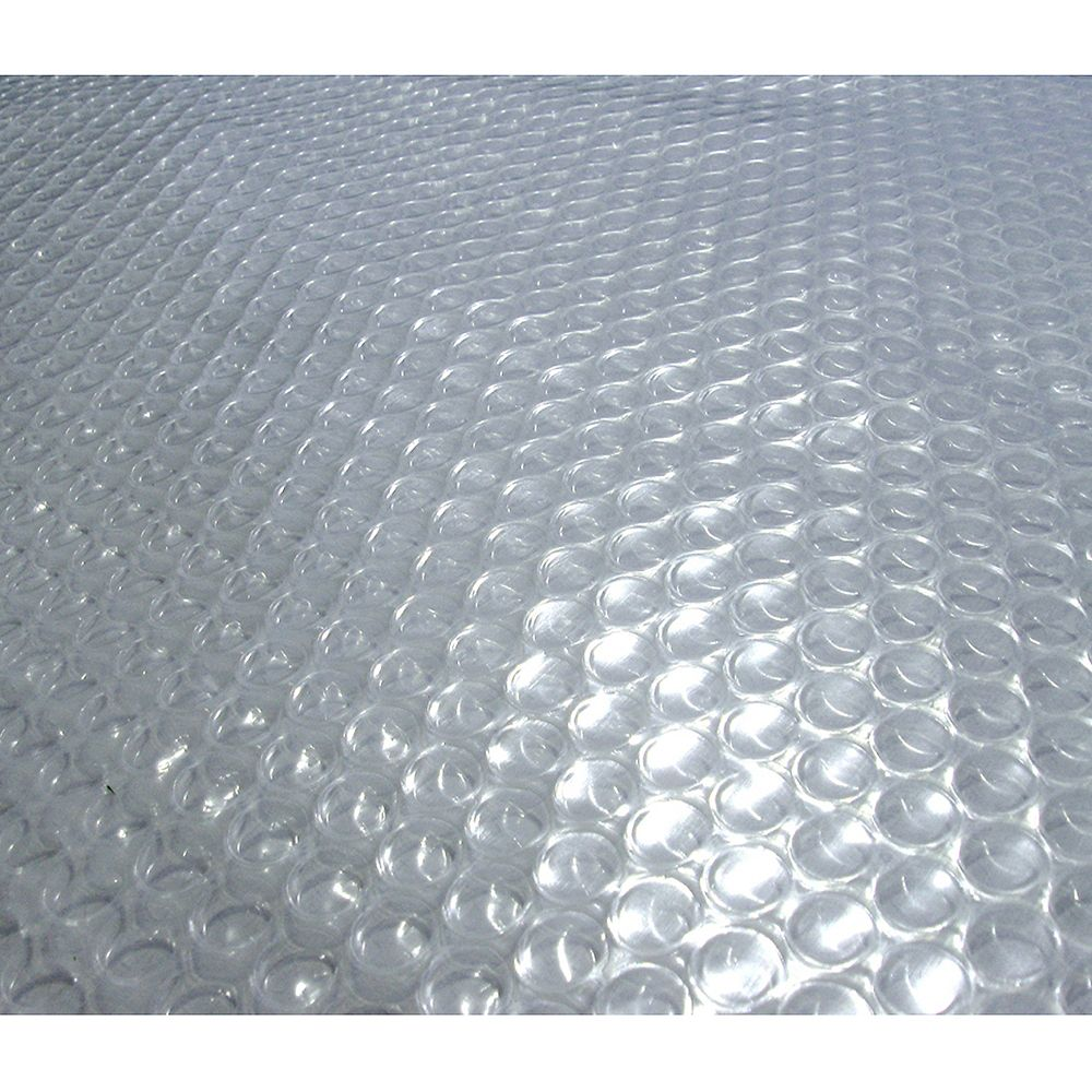 Blue Wave 15-Feet x 30-Feet Oval 12-mil Clear Solar Blanket for Above-Ground Pools