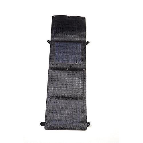 Panneau solaire monocristallin portable et pliable Grape Solar GoCharger 10W avec sortie USB de 2A