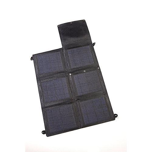 Panneau solaire monocristallin portable et pliable Grape Solar GoCharger 20W avec sortie USB de 2 x 2A
