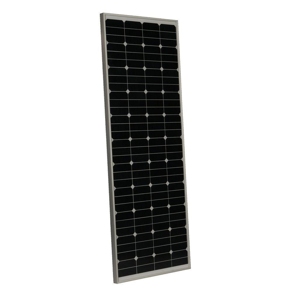 Grape Solar 135 Watt Monocrystalline High Efficiency Pv Solar Panel With Black Frame For R The Home Depot Canada