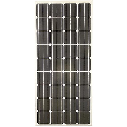 Panneau solaire PV monocristallin Grape Solar 160W pour bungalows, véhicules utilitaires et systèmes d'alimentation d'appoint