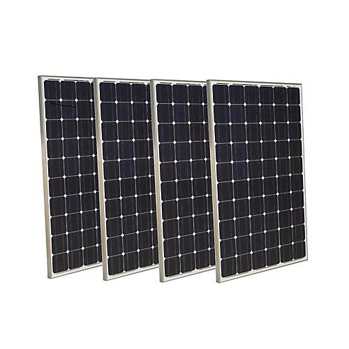 Panneau solaire monocristallin Grape Solar 250W (4pièces)
