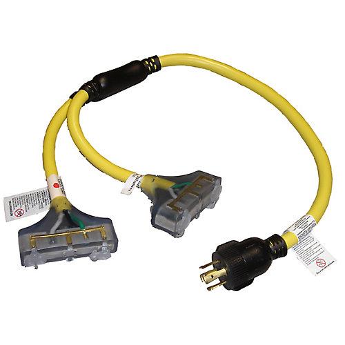 Adaptateur à loquet avec cordon universel de 3 pi 10/4 240V