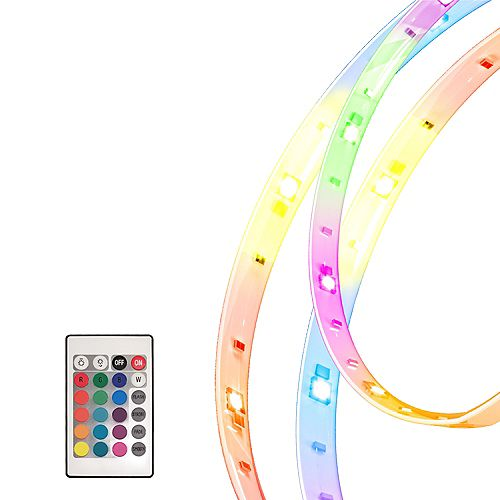 Five 1 meter (196-inch) Multi-Colour RGB LED Flexible Tape Light Kit and Accessories