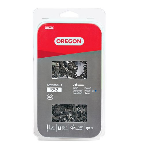 Oregon 14-inch S (91 Low Profile) Chain (2-Pack) for Chainsaws