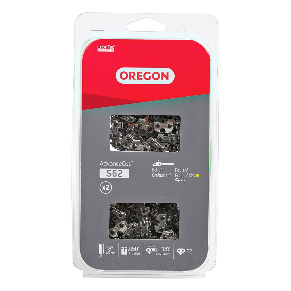 Oregon 18-inch S (91 Low Profile) Chain (2-Pack) for Chainsaws