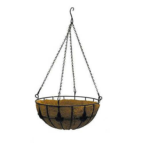 14-inch Maple Leaf Coco Hanging Basket Planter
