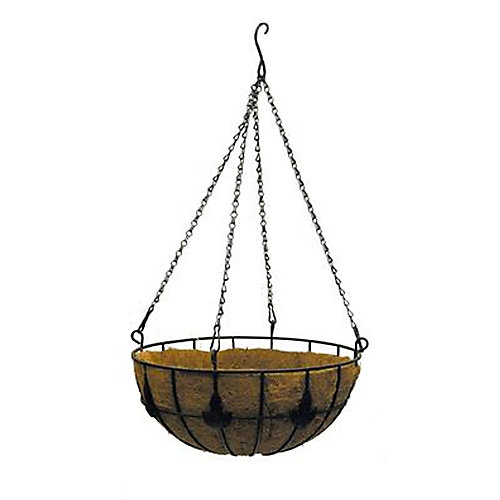 16-inch Maple Leaf Coco Hanging Basket