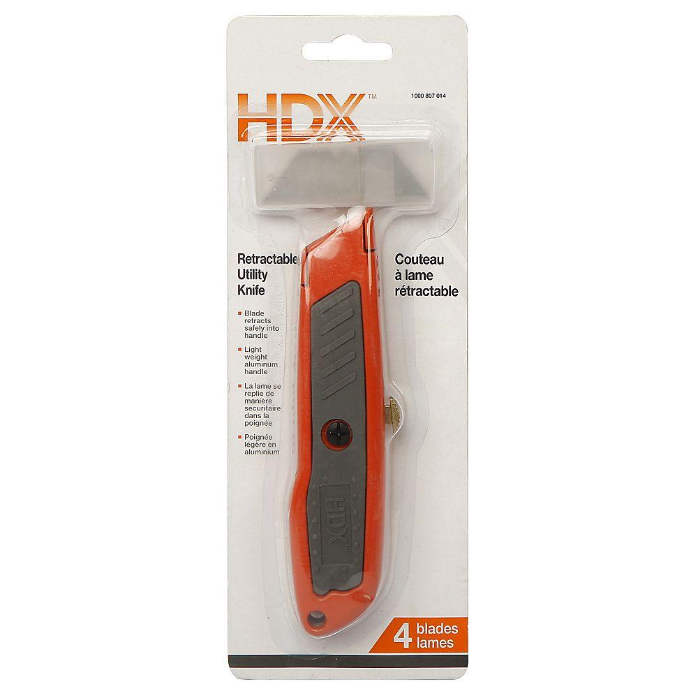 HDX Couteau à lame rétractable