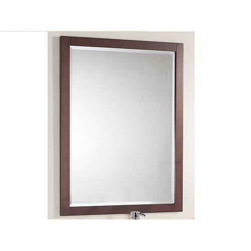 Le miroir LINDEN de 30 po en fini noyer
