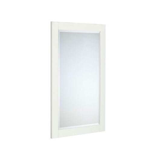 """Le miroir LINDEN de 25 po en couleur """"colombe blanche"""""""