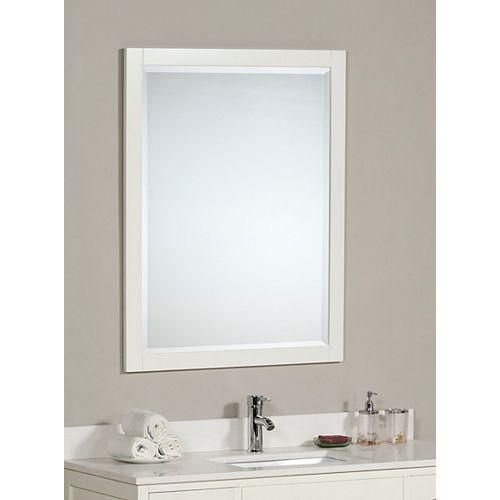 """Le miroir LINDEN de 30 po en couleur """"colombe blanche"""""""