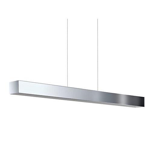 Collada Suspension Linéaire LED. Fini Chrome avec Intérieur Blanc