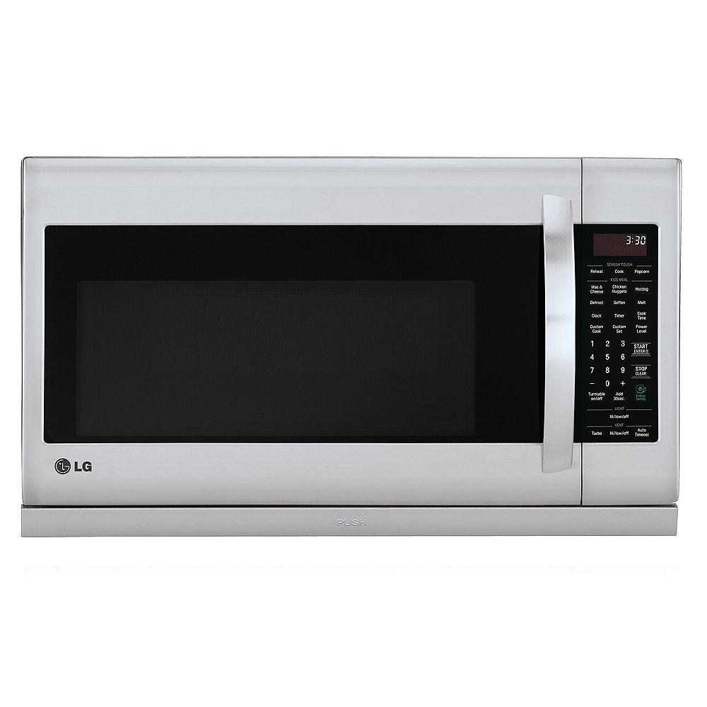 LG Electronics 2.0 cu. ft. Over the Range Microwave with Slide-Out ExtendaVent en acier inoxydable avec EasyClean® et cuisson à capteur