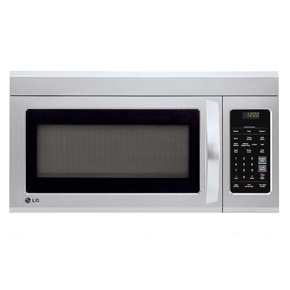 LG Electronics Micro-ondes en acier inoxydable avec EasyClean® et cuisson à capteur, 1,8 pi3 au-dessus de la cuisinière