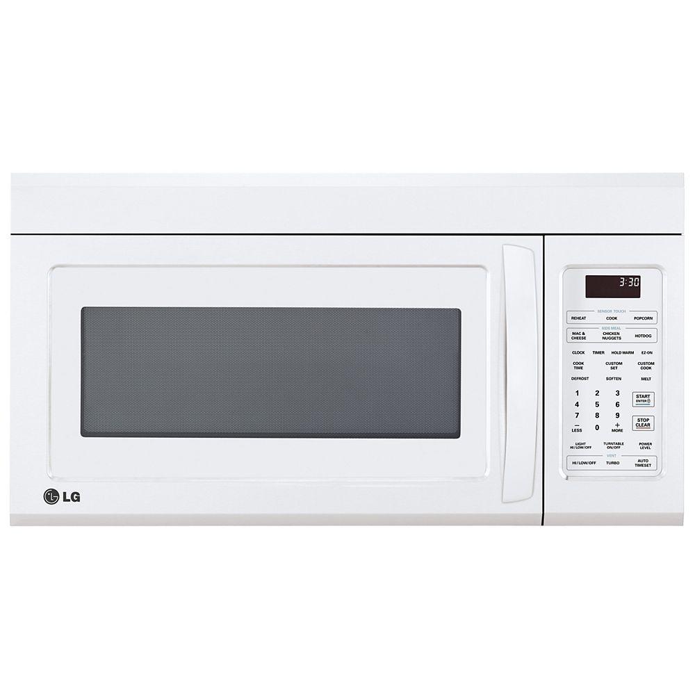 LG Electronics Micro-ondes de 1,8 pi3 sur la cuisinière en blanc avec EasyClean® et cuisson à capteur