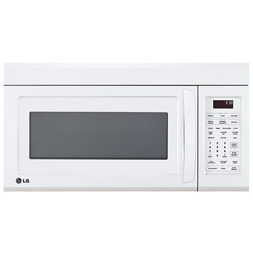 LG Electronics 1.8 cu. ft. Over the Range Microwave in White with EasyClean® and Sensor Cooking