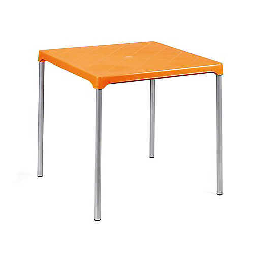 Ermes Commercial Stackable Table 29 Inch Square-Orange