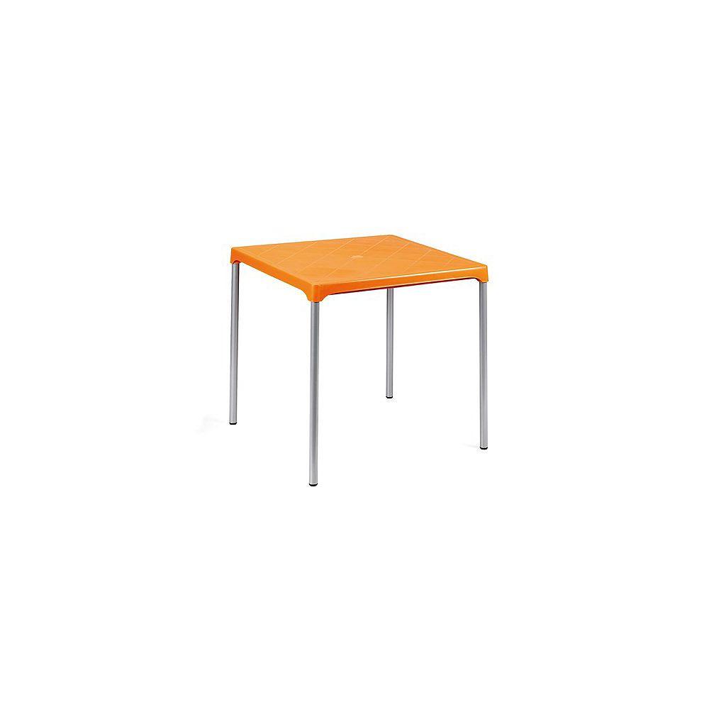 Progarden Ermes Commercial Stackable Table 29 Inch Square-Orange