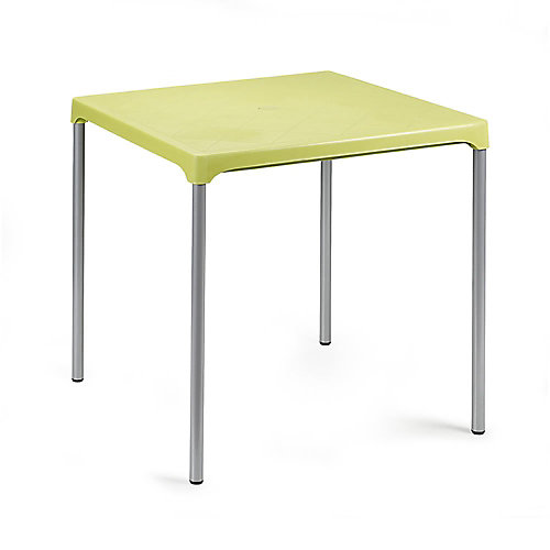 Ermes Commercial Stackable Table 29 Inch Square-Lime Green