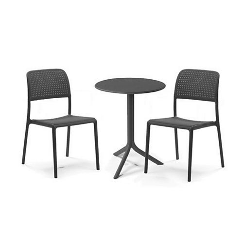 Bora Bistrot 3-Piece Bistro Set (Anthracite)
