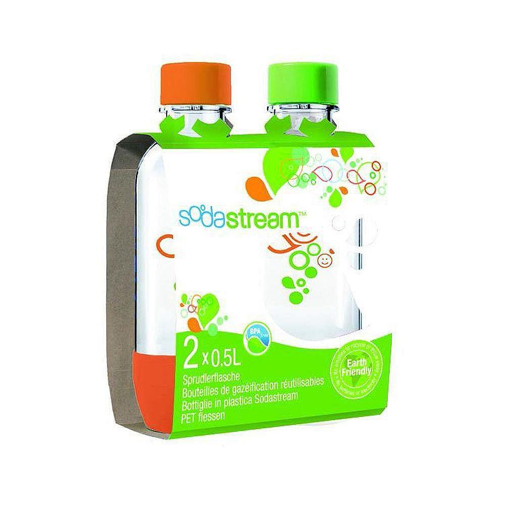 Sodastream Bouteille de 500 ML double(orange et vert)
