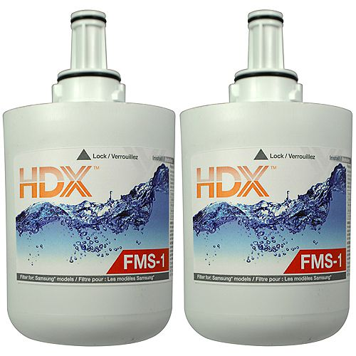 FMS-1 Refrigerator Replacement Filter Fits Samsung HAFCU1 (2-Pack)