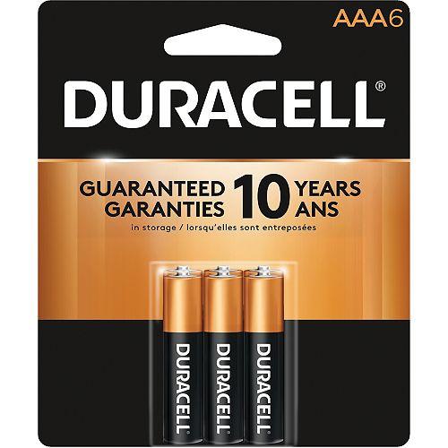Coppertop AAA Alkaline Batteries 6 count