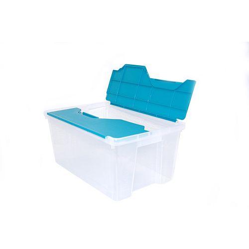 26L Mini Flip Top Tote - Clear/Aqua
