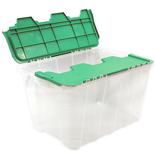 49L Flip Top Tote - Clear/Lime