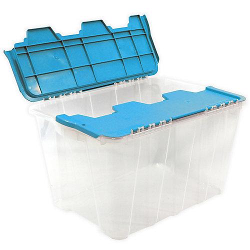 49L Flip Top Tote - Clear/Aqua