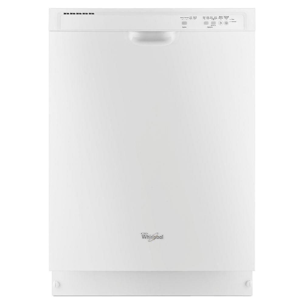 Whirlpool Front Control Built-In Tall Tub Dishwasher in White, 55 dBA - ENERGY STAR®