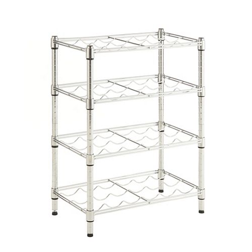 4 Shelf Wire Wine Rack