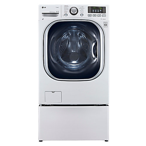 5.0 cu. ft. Front Load All-In-One Electric Washer-Dryer Combo in White