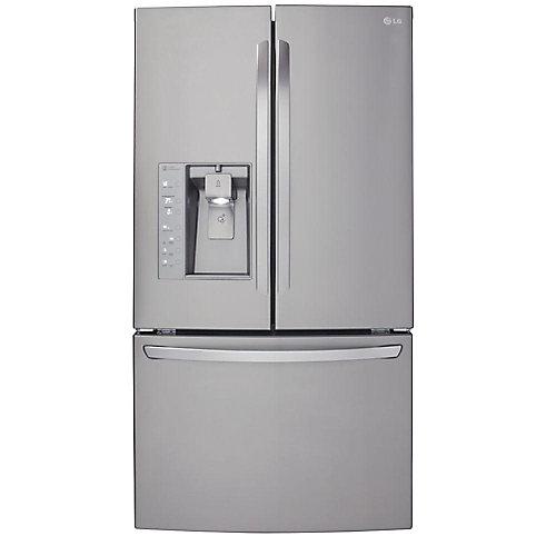 Réfrigérateur à comptoir de 36 po W 24 pi3 avec système de glaçons Slim SpacePlus en acier inoxydable - ENERGY STAR®