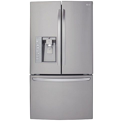 36-inch W 24 cu. ft. French Door Refrigerator with Water & Ice Dispenser in Stainless Steel, Counter-Depth - ENERGY STAR®