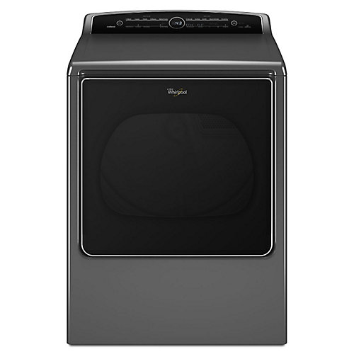 Cabrio 8.8 cu. ft. High Efficiency Gas Steam Dryer in Chrome Shadow