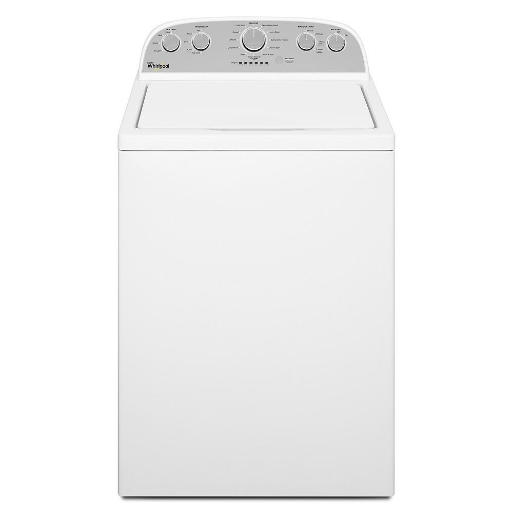 Whirlpool 5.0 cu. ft. High Efficiency Top Load Washer with a Low-Profile Impeller in White