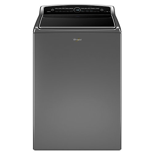6.1 cu. ft. High Efficiency Top Load Washer with Steam in Chrome Shadow