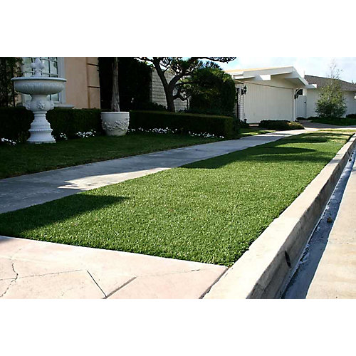 Classic 54 Fescue 15 ft. x 25 ft. Artificial Grass for Outdoor Landscape